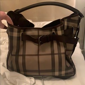 Smoked check Burberry hobo / tote NWT